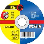 Круг отрезной абразивный 180х2.0х22 РинГ (RinG)