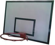 Баскетбольный щит металлический - 0, 9м х1, 2м.