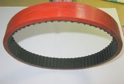 Ремень зубчатый протяжки пленки аналог 255 L 125+Linatex 7 mm. для ФУА