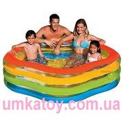 Продам детский надувной бассейн  Intex 56495 Летние краски