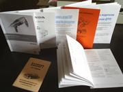 Печать книг,  методичек,  каталогов малыми тиражами.