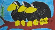 Картины в офис (ёжики,  вороны и другие) от автора