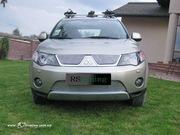 Решетка на радиатор и бампера гриль для Mitsubishi Outlander XL