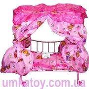 Продаем - Детская кроватка для кукол с балдахином 9350