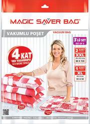 Вакуумные пакеты SET OF 3 - (1шт: 55см X 90см,  2шт: 80см X 100см)