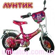Продам детский двухколесный велосипед 14 дюймов Лунтик 131406 со звонк