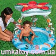 Продам надувной детский бассейн звезда 57428 іntex с навесом