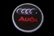 Тюнинг вставка в двери авто с логотипом Ауди