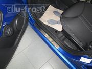 Аксессуары для авто накладки на пороги авто Citroen C1 5D 2005+