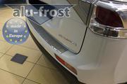 Накладка на бампер с загибом для Mitsubishi Outlander 2012+