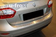 Накладка на бампер с загибом для Renault Fluence 2010+