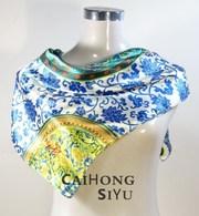 Шелковый платок в китайском стиле