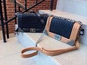 Продам Женская сумка клатч с блестками Chanel Le Boy - опт и розница