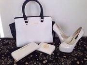 Продам Женская сумка Michael Kors Selma белая с черным- опт и розница