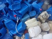 твердые отходы полимеров, отходы пленки, литник, формы из под тротуарки
