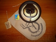 Охотничий трофей - клыки кабана СЕКАЧА,  на медальоне.
