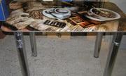 Стеклянные столики с фотопечатью от производителя.