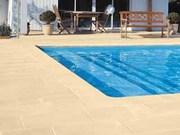 Террасный и бортовой копинговый камень для бассейна