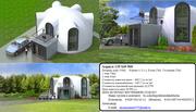 Проектирование и строительство купольных домов,  зданий кафе,  магазинов