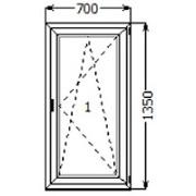 Готовое Пластиковое окно Rehau 700x1350 мм