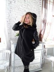 Шикарное кашемировое пальто с норкой
