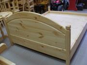 Кровати из натурального цельного дерева