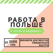 Работа в Польше,  помощь в открытии визы