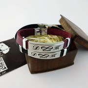 Кожаный браслет с гравировкой