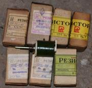 Продам резисторы:  СОВ-7, 5,  ПЭВР,  ППБ,  ППЗ,  СП5-30 ПЭВР,  СОВ-7, 5,  0805,  1206
