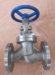 Клапан запорный вентиль стальной,  чугунный,  нержавеющий