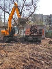 Расчистка участка Днепр,  демонтажные работы,  вывоз мусора