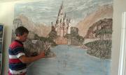 Рельефная роспись стен-барельефы по гипсокартону и штукатурке