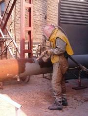 Пескоструйные работы на промышленных объектах