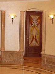 Дверные фасады в технике Тиффани.