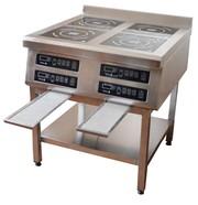 Индукционные плиты,  мебель из нержавеющей стали TEHMA