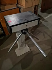 Турникет трехштанговый со сканером отпечатка пальца