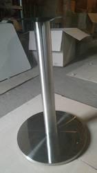 Опора Тахо,  нержавеющая сталь,  высота 72 см,  блин 50 см