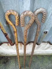 Анкер для крепления и натяжки садовых столбов