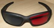 3D стерео очки анаглифные пластиковые